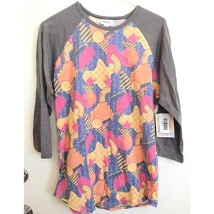 LulaRoe Randy Baseball Tee large